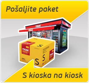 Pošaljite paket s kioska na kiosk